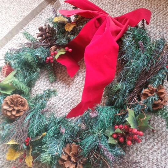 Xmas wreath DIY_finished