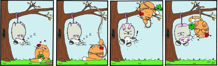 La Gata has big plans for her mistletoe this Christmas.